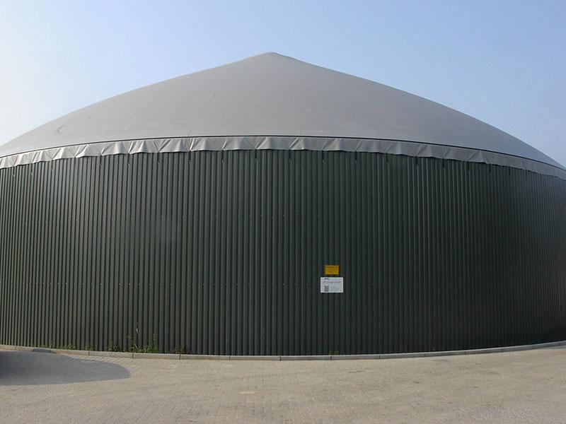 Biogas Membran Wetterschutz, Kegelform