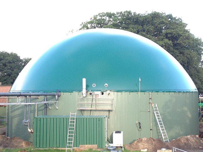 Biogas Membran Wetterschutz