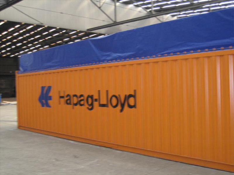 Containerplane mit eingearbeiteter Überhöhe